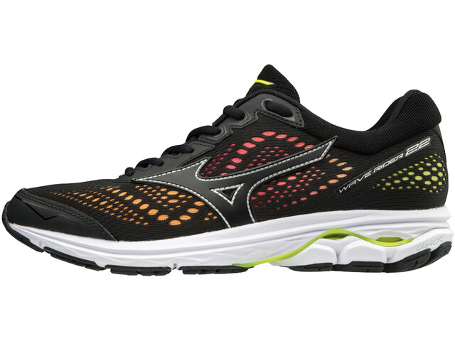 Mizuno Wave Rider 22 Osaka Running Shoes Women black/black/safety yellow